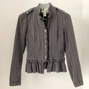 Urban Outfitters UO Military peplum Jacket Small
